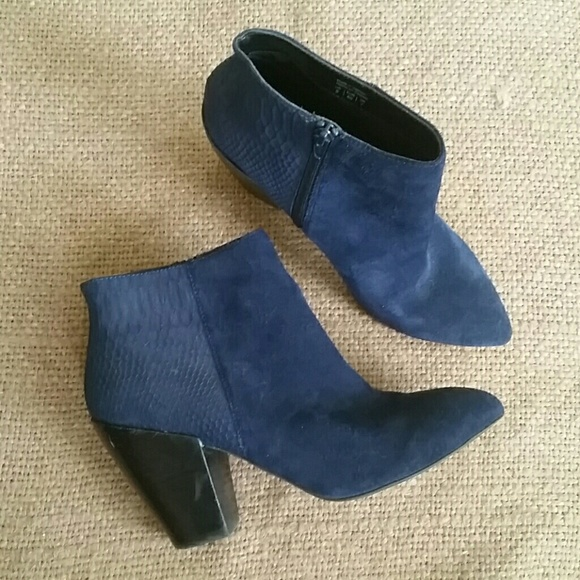 Shoemint Shoes | Navy Blue Booties